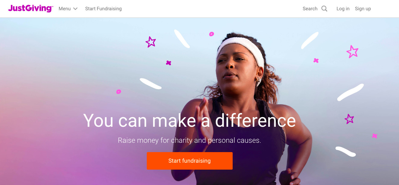 web developmenet for JustGiving, a Charity fundraising company in London